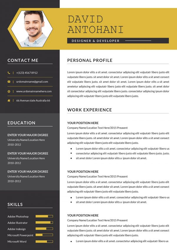 Creative CV Templates 2021