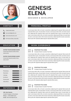 Executive Resume CV Template