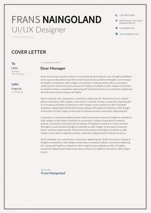 Job Cover Letter Word Template