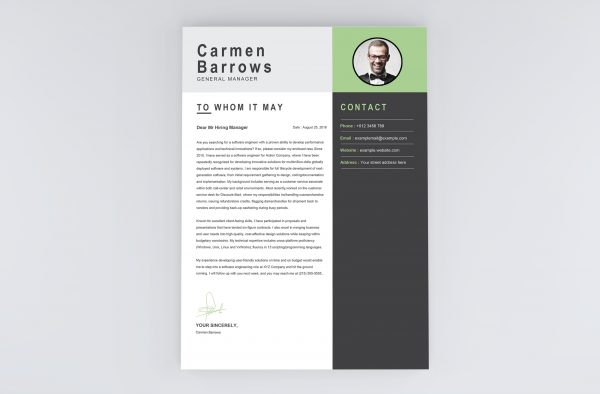 Manager Cover Letter Template
