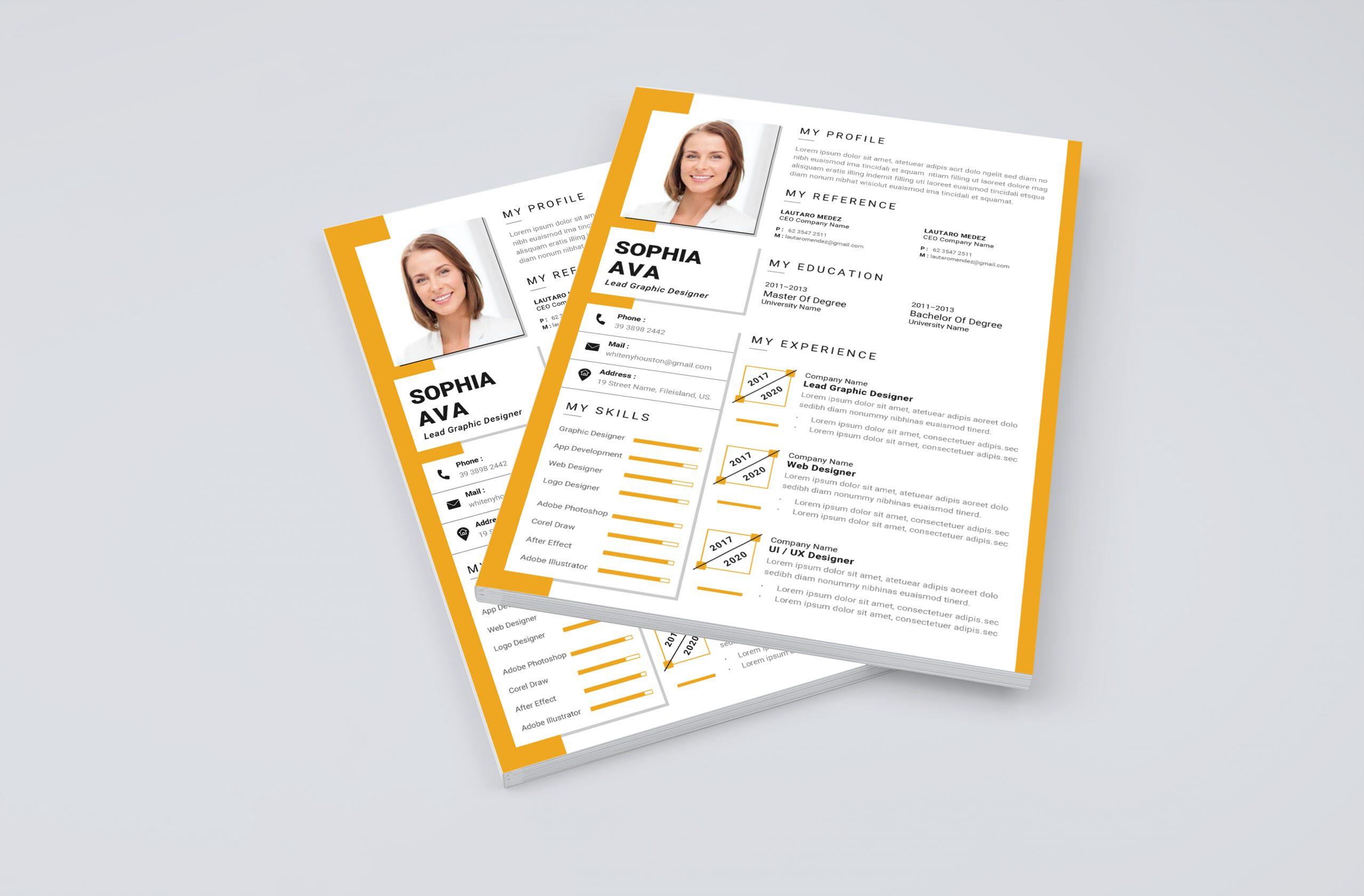 Modern Professional CV Template