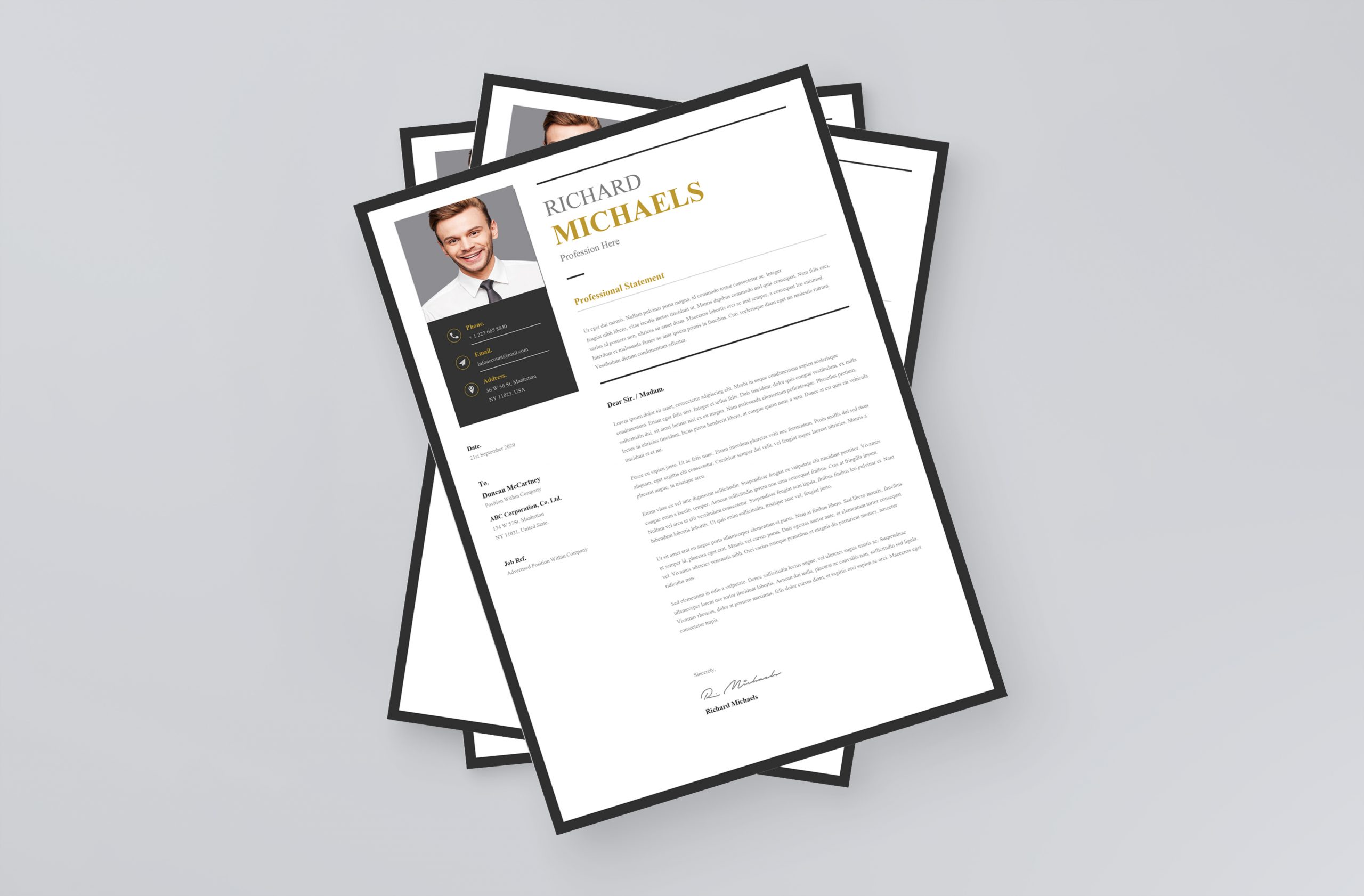 Professional Simple Cover Letter Template