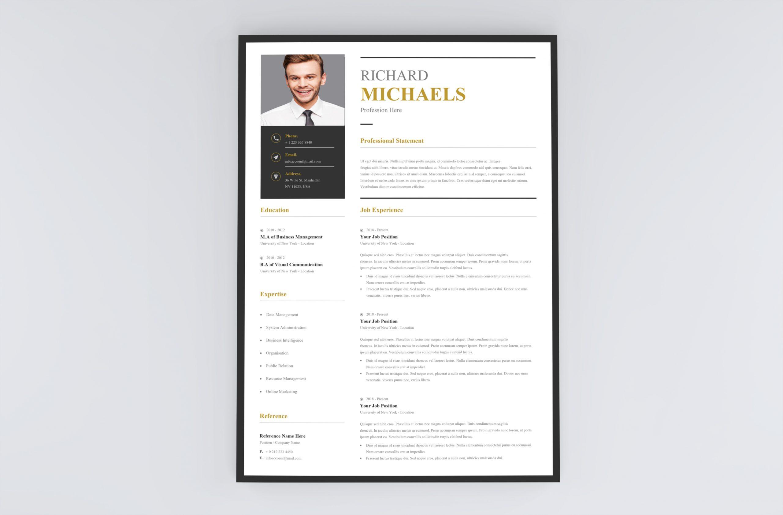 Professional Simple Resume Template