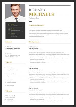 Professional Simple Resume Template