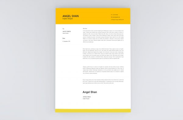 Simple Clean Cover Letter Template 2021