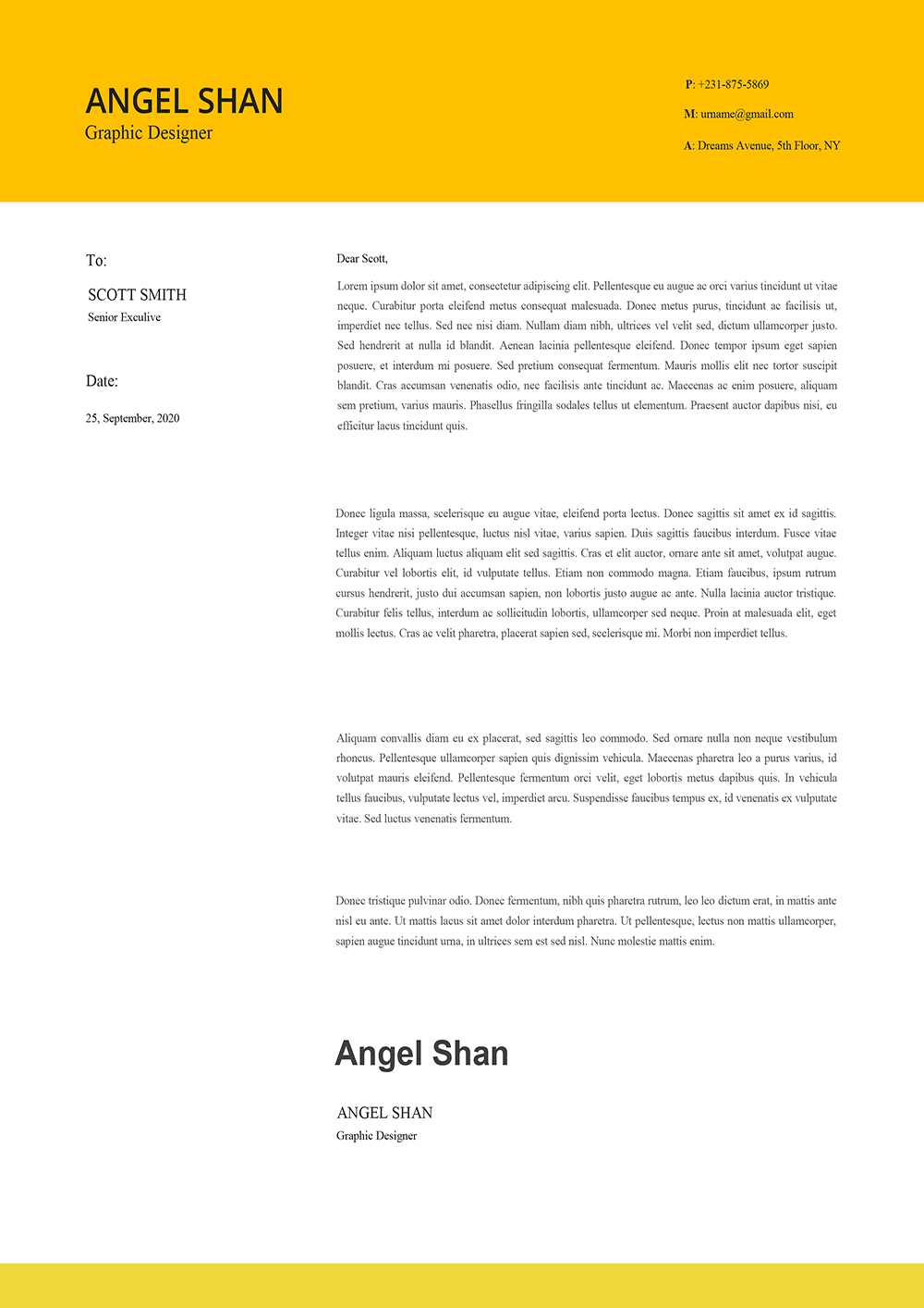 Simple Clean Cover Letter Template 2021 To Download in ...