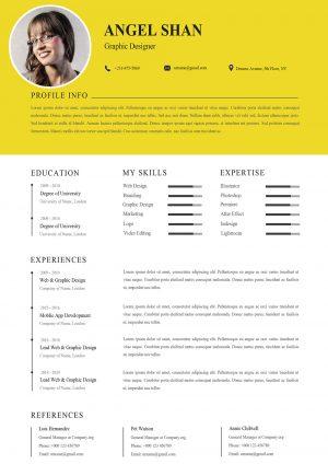 Simple Clean Resume Template 2021