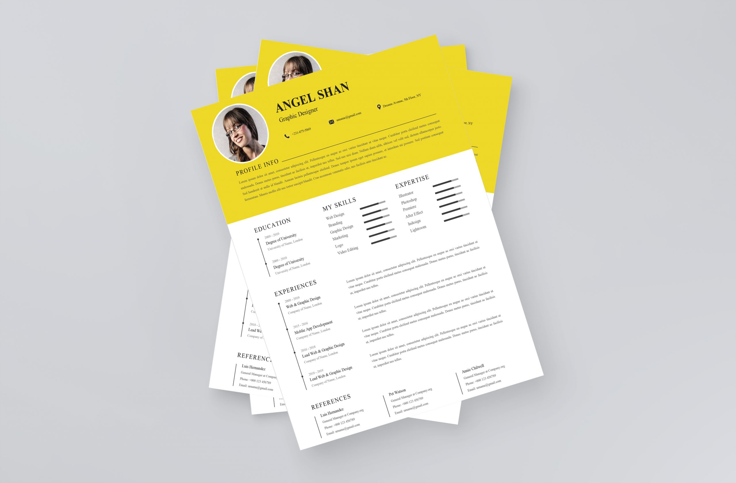 Simple Clean Resume Template 2021