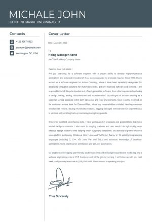 Clean Professional Cover Letter Template