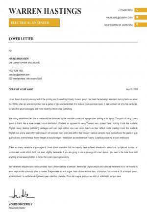 Modern Creative Cover Letter Template