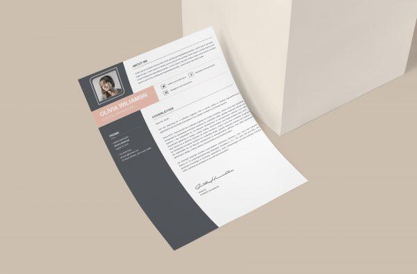 Modern Design Cover Letter Template