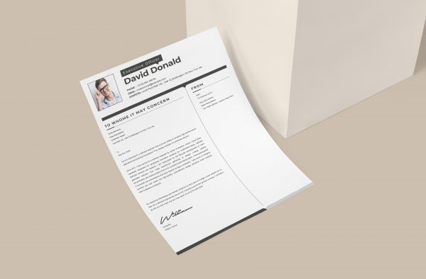 Modern Simple Cover Letter Template