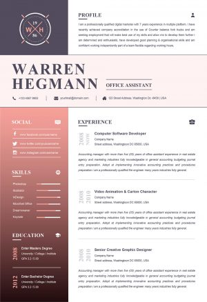 New Creative Resume Template