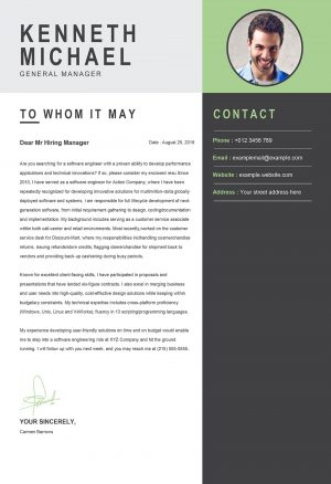 Perfect Original Cover Letter Template