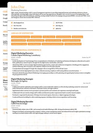 Word CV Novoresume Basic Template