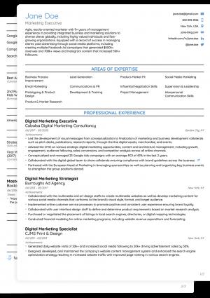 Word CV Novoresume College Template