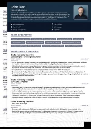 Word CV Novoresume Creative Template