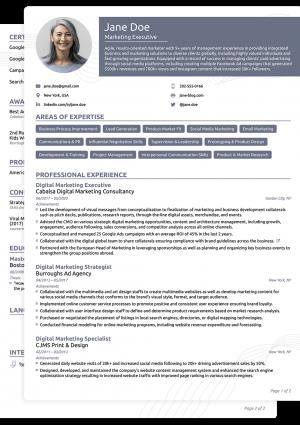 Word CV Novoresume Functional Template
