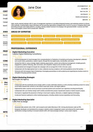 Word CV Novoresume Modern Template