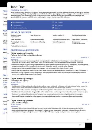 Word CV Novoresume Simple Template